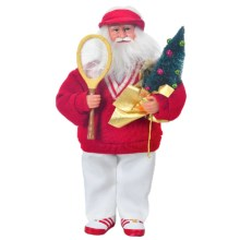 "Santa's Workshop Santa Figurine - 15"" in Tennis - Closeouts"
