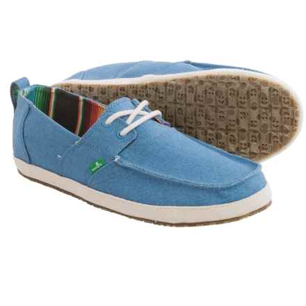 Sanuk Admiral Shoes (For Men) in Blue - Closeouts
