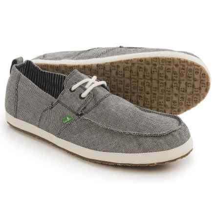 Sanuk Admiral TX Shoes (For Men) in Black/Natural - Closeouts