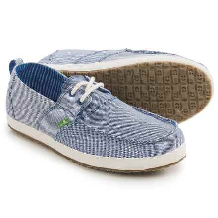 Sanuk Admiral TX Shoes (For Men) in Blue/Natural - Closeouts