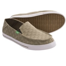 Sanuk Baseline Checked Out Shoes - Slip-Ons (For Men) in Moss - Closeouts