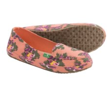 Sanuk Blanche Prints Canvas Shoes - Slip-Ons (For Women) in Melon/Ikat Floral - Closeouts