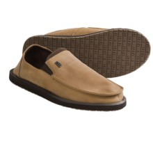 Sanuk Board Room Shoes - Leather, Slip-Ons (For Men) in Tan - Closeouts