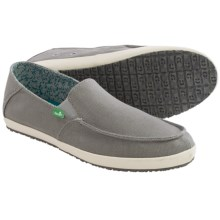 Sanuk Casa Canvas Shoes - Slip-Ons (For Men) in Grey - Closeouts