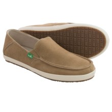 Sanuk Casa Suede Shoes - Slip-Ons (For Men) in Tan - Closeouts