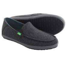 Sanuk Casa TX Shoes - Slip-Ons (For Men) in Black Herringbone - Closeouts