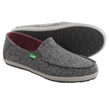 Sanuk Casa TX Shoes - Slip-Ons (For Men) in Grey Herringbone - Closeouts