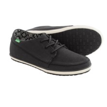 Sanuk Cassius Shoes - Waxed Twill (For Men) in Black - Closeouts