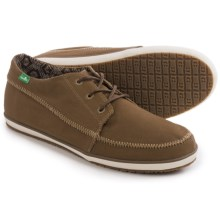 Sanuk Cassius Shoes - Waxed Twill (For Men) in Brown - Closeouts