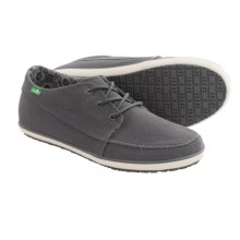 Sanuk Cassius Shoes - Waxed Twill (For Men) in Charcoal - Closeouts