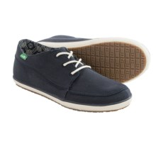 Sanuk Cassius Shoes - Waxed Twill (For Men) in Navy - Closeouts
