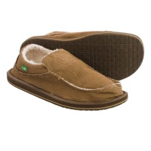 Sanuk Chiba Chill Shoes - Slip-Ons (For Men) in Brown Waxed Cord - Closeouts