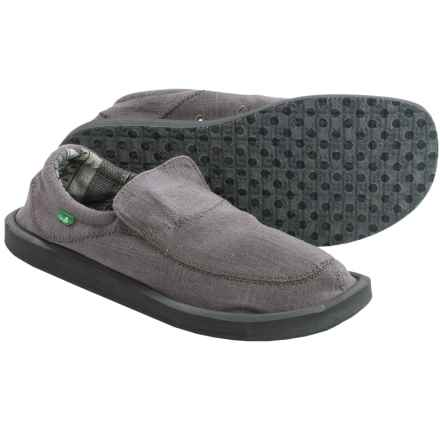 Sanuk Chiba Stitched Shoes - Canvas, Slip-Ons (For Men) in Grey - Closeouts
