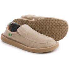 Sanuk Chiba Stitched Shoes - Canvas, Slip-Ons (For Men) in Natural - Closeouts