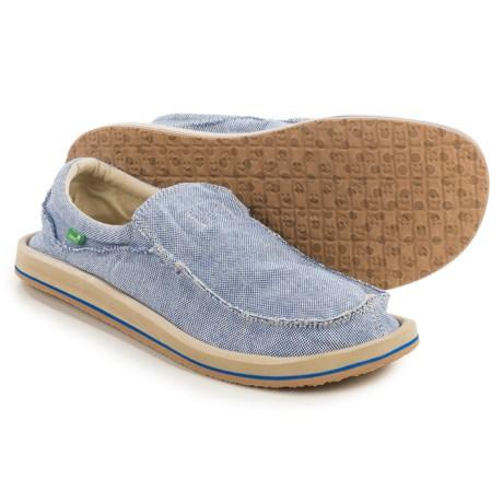 Sanuk Chiba TX Shoes - Slip-Ons (For Men) in Blue/Natural
