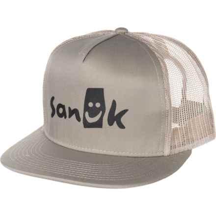 online retailer 0923a b0a16 Sanuk Classic Trucker Hat (For Men) in Khaki - Closeouts