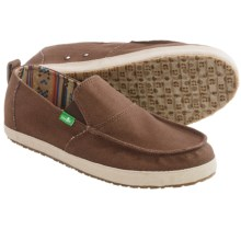 Sanuk Commodore Canvas Shoes - Slip-Ons (For Men) in Brown/Tan - Closeouts
