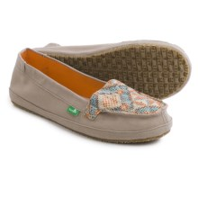 Sanuk Cross-Stitch Espidrilles - Canvas (For Women) in Stone/Melon - Closeouts