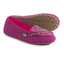 Sanuk Cross-Stitch Shoes - Slip-Ons (For Women) in Berry/Hot Pink - Closeouts