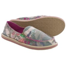 Sanuk Donna Mixed-Up Shoes - Slip-Ons (For Women) in Camo/Floral - Closeouts