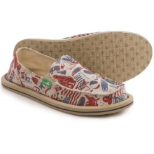 Sanuk Donna Patriot Shoes - Slip-Ons (For Women) in American Icon - Closeouts