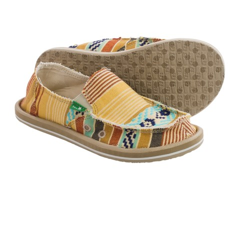 Sanuk Donna Slip On Shoes For Big Girls