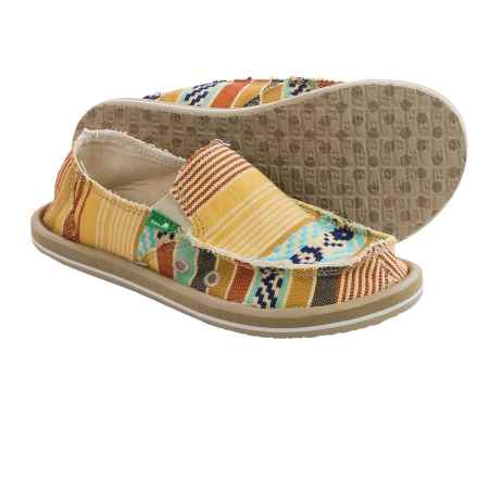 Sanuk Donna Slip-On Shoes (For Little and Big Girls) in Dusty Yellow/Multi - Closeouts