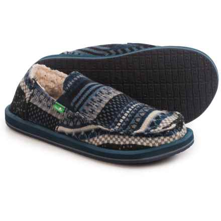 Sanuk Donny Chill Shoes - Canvas, Slip-On (For Men) in Indigo Nordic - Closeouts