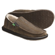 Sanuk Donny Primo Shoes - Suede, Shearling Lining (For Men) in Brown - Closeouts