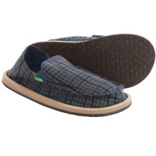 Sanuk Donny Sidewalk Surfer Shoes - Slip-Ons (For Men) in Blue Hounds - Closeouts