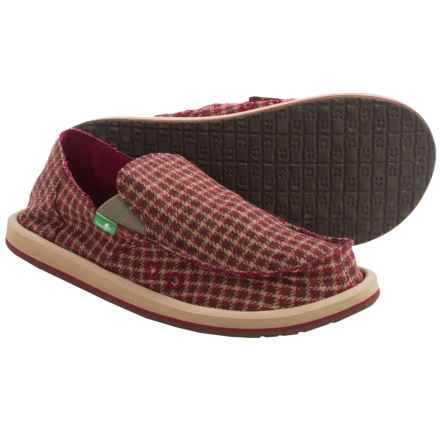 Sanuk Donny Sidewalk Surfer Shoes - Slip-Ons (For Men) in Brown Hounds - Closeouts