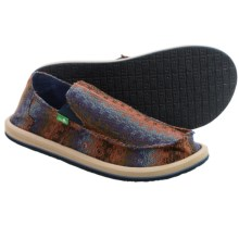 Sanuk Donny Tribal Shoes - Slip-Ons (For Men) in Brown Tribal - Closeouts