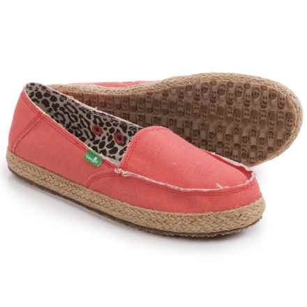 Sanuk Fiona Shoes - Slip-Ons (For Women) in Coral - Closeouts