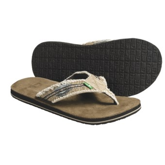 Sanuk Fraid So Thong Sandals - Flip-Flops (For Men) in Blue/Brown