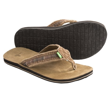 Sanuk Fraid So Thong Sandals - Flip-Flops (For Men) in Rust/Brown