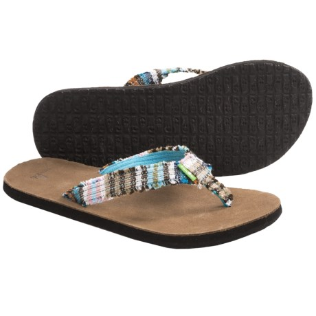 Sanuk Fraidy Cat Sandals - Flip-Flops (For Women) in Multi