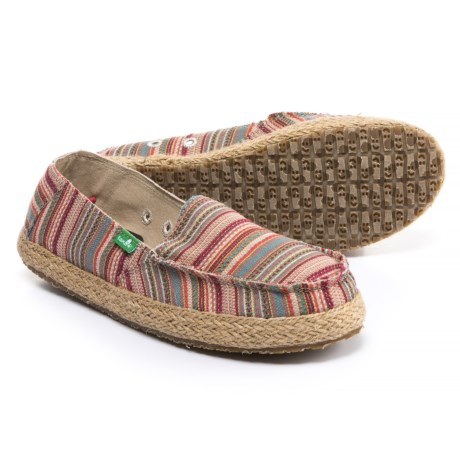 Sanuk Funky Fiona Shoes - Slip-Ons (For Women) in Natural Sonoma