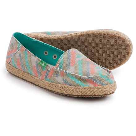 Sanuk Funky Fiona Shoes - Slip-Ons (For Women) in Natural Zig Zag - Closeouts