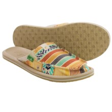 Sanuk Getaway 2 Shoes - Slip-Ons (For Women) in Dusty Yellow/Multi - Closeouts