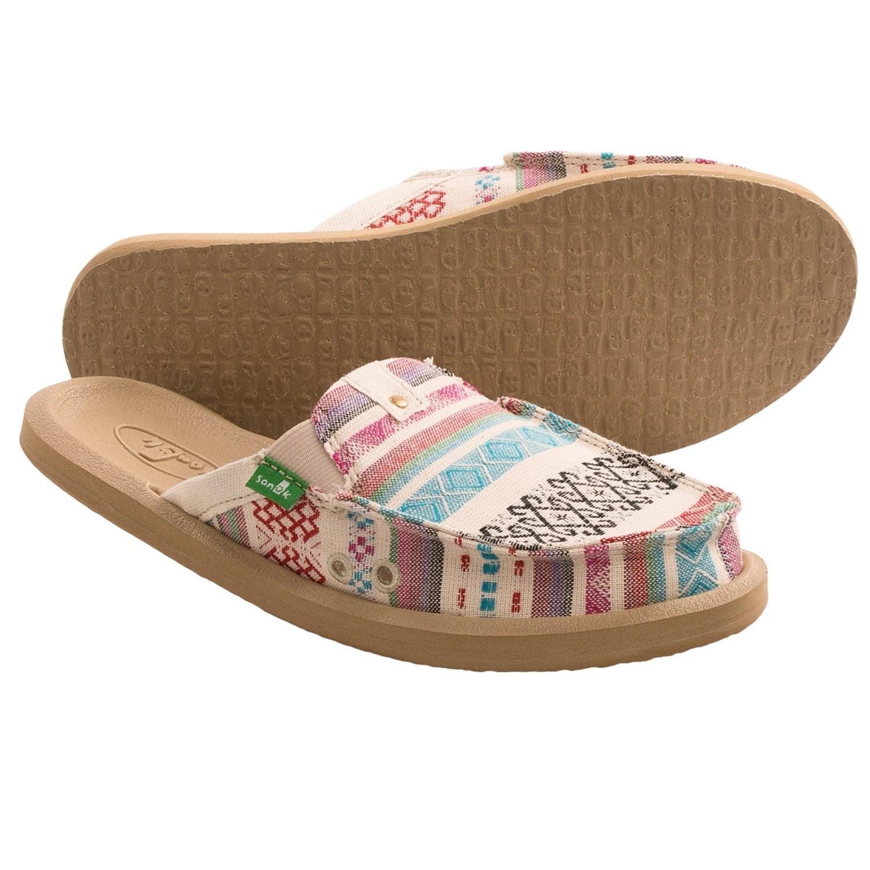 sanuk getaway slip on shoes open back for save 30