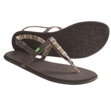 Sanuk Girlie Sangria Sandals (For Women) in Dark Brown - Closeouts