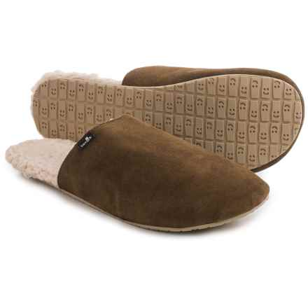 Sanuk Half Dome Suede Slippers (For Men) in Brown - Closeouts