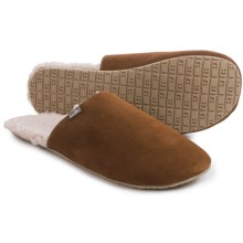 Sanuk Half Dome Suede Slippers (For Men) in Chestnut - Closeouts