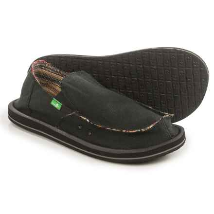Sanuk Hemp Shoes - Slip-Ons (For Men) in Black - Closeouts