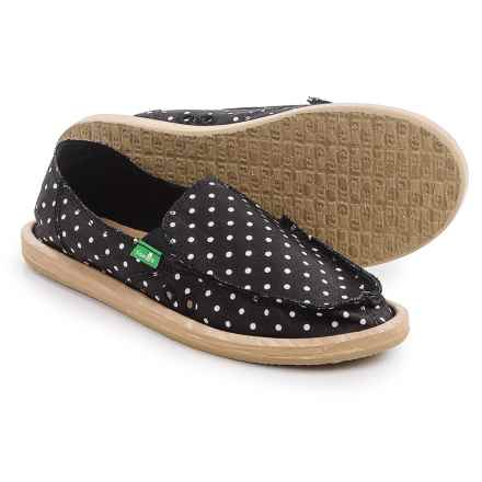 Sanuk Hot Dotty Chambray Espadrilles (For Women) in Black/Natural Dots - Closeouts