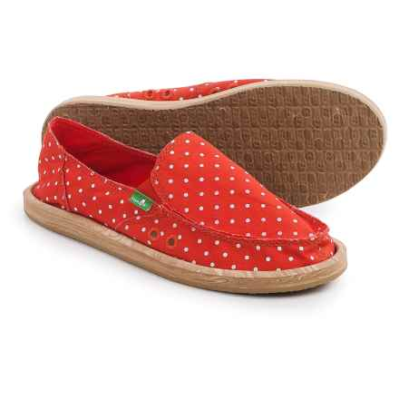 Sanuk Hot Dotty Chambray Espadrilles (For Women) in Flame/Natural Dots - Closeouts
