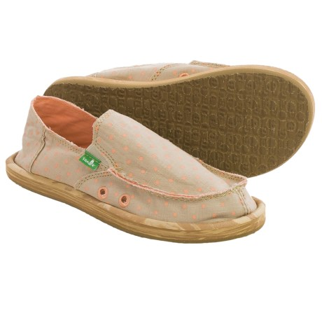 Sanuk Hot Dotty Chambray Shoes Slip Ons (For Big Girls)