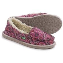 Sanuk I Can't Quilt You Shoes - Slip-Ons (For Women) in Hot Pink - Closeouts