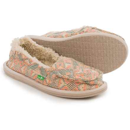Sanuk I Can't Quilt You Shoes - Slip-Ons (For Women) in Melon - Closeouts