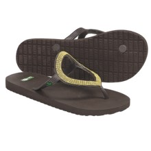 Sanuk Ibiza St. Tropez Flip-Flops (For Women) in Brown/Gold - Closeouts